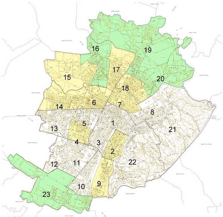 23 quartieri Torino