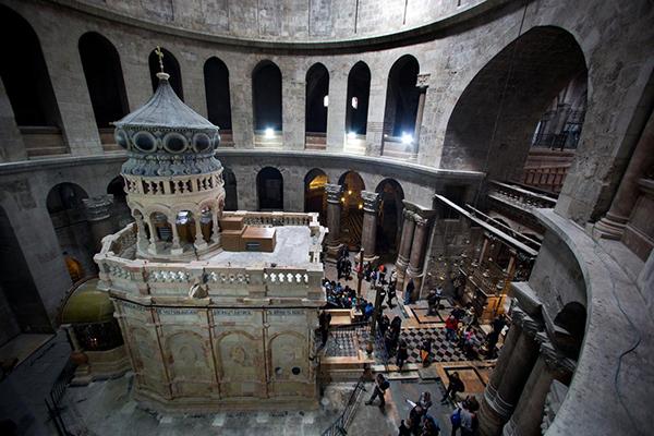 Il Santo Sepolcro di Gerusalemme restaurato dai professionisti di Venaria: nei lavori anche l'Edicola