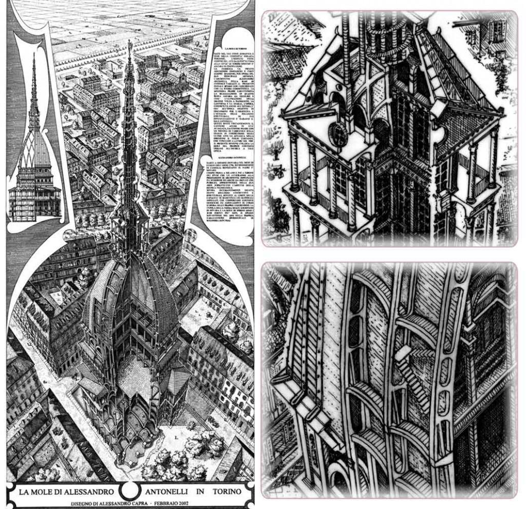 Torino Il genio alato, l'angelo della Mole Antonelliana