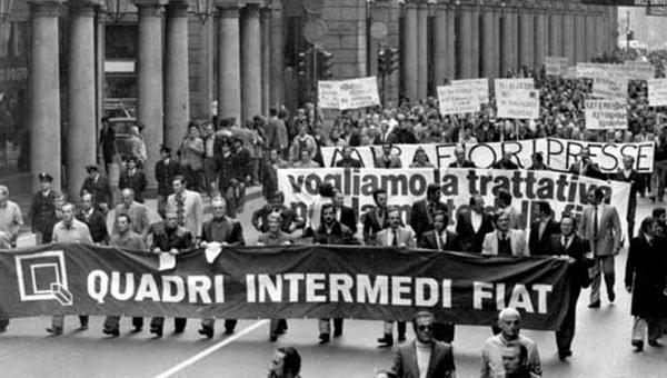 La amarcia dei 40.000 colletti Bianchi Torino