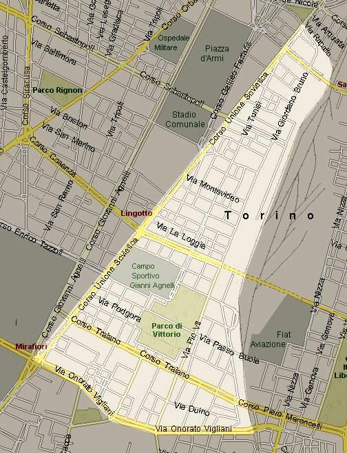 Torino ed i suoi 23 quartieri Lingotto