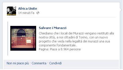 Africa United: status su Fb contro la chiusura dei Murazzi a Torino