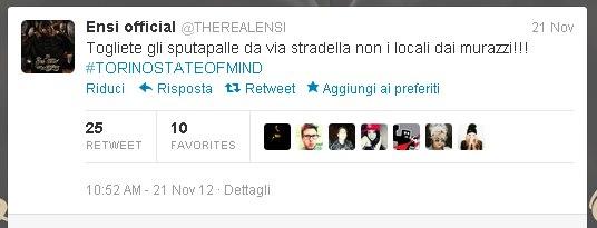 Ensi: status su Fb contro la chiusura dei Murazzi a Torino