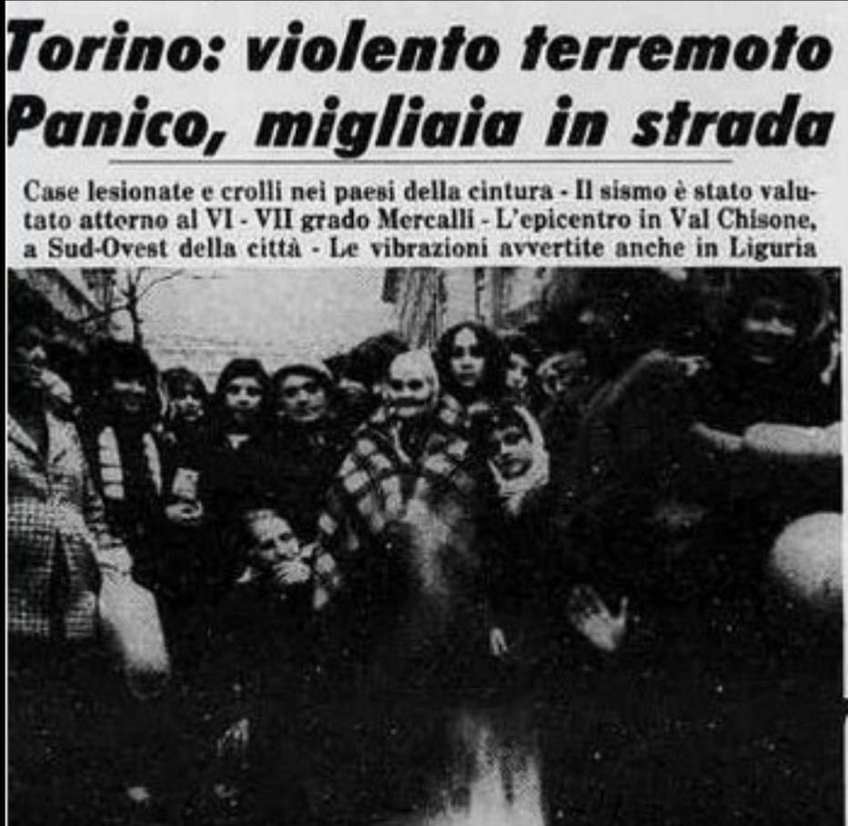 Photo of 5 gennaio 1980: il terremoto di Torino, oltre un minuto di terrore in città