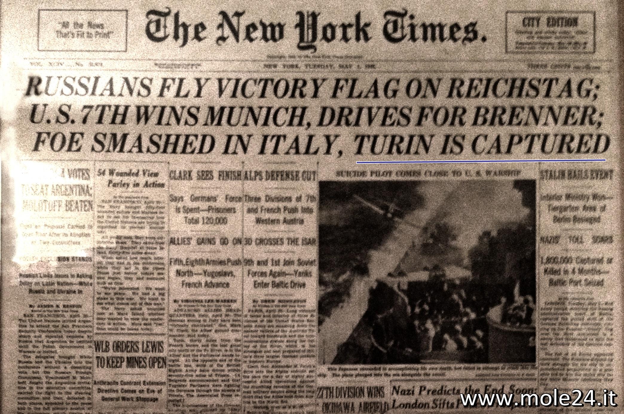 Photo of 1 maggio 1945: quando il New York Times pubblico' la caduta di Torino  in prima pagina
