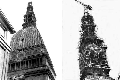 Mole Antonelliana, 63 anni fa il crollo