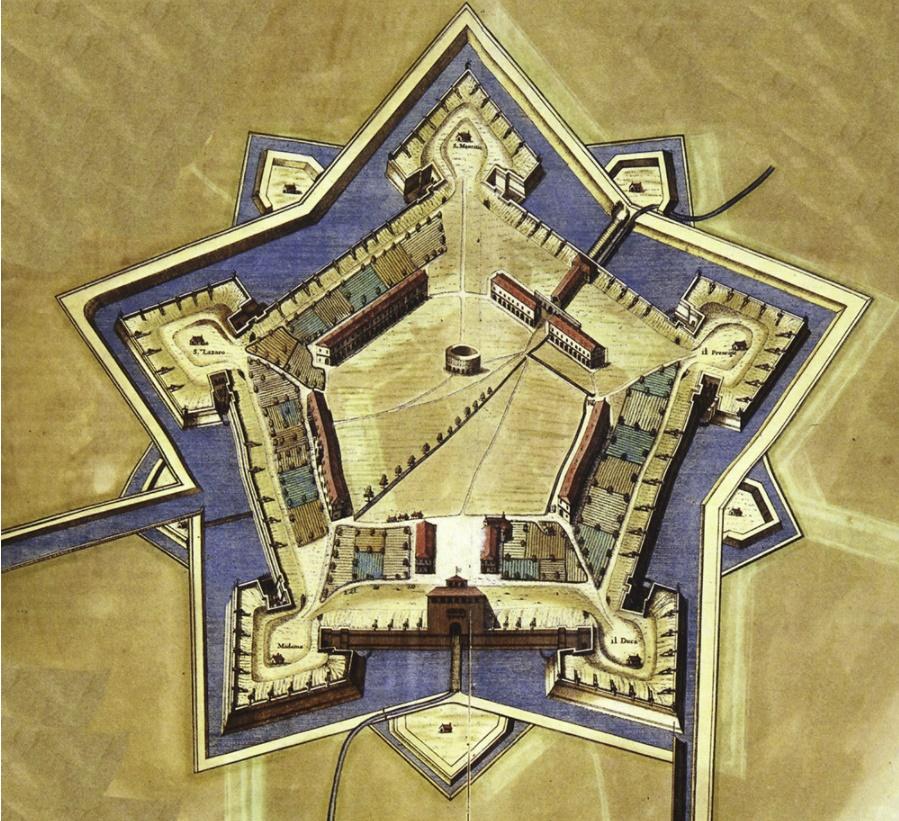 Pianta di Torino 1706