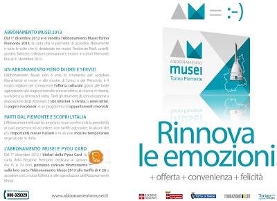 Torino abbonamento musei 2013