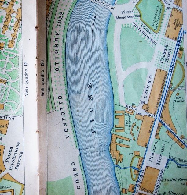 La posizione dei Bagni Lido Savoia, in basso a destra nella cartina Torino