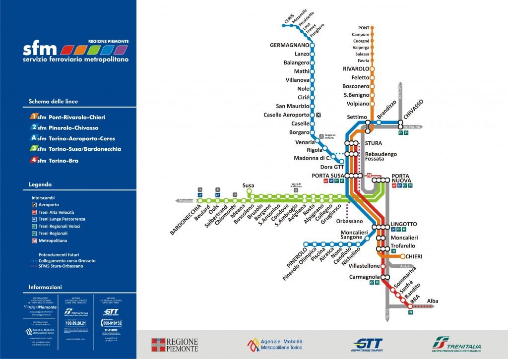 Le Gru: si arriverà anche in treno Torino servizio ferroviario metropolitano
