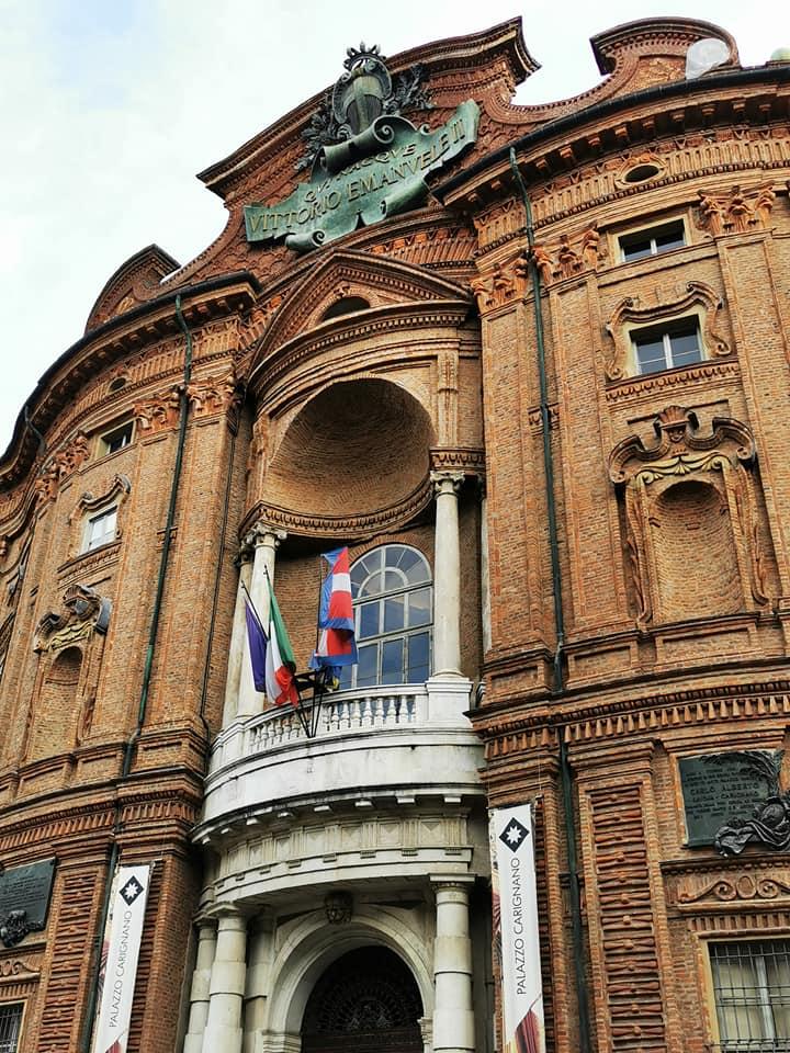 Facciata Palazzo Carignano primo parlamento Regno d'Italia