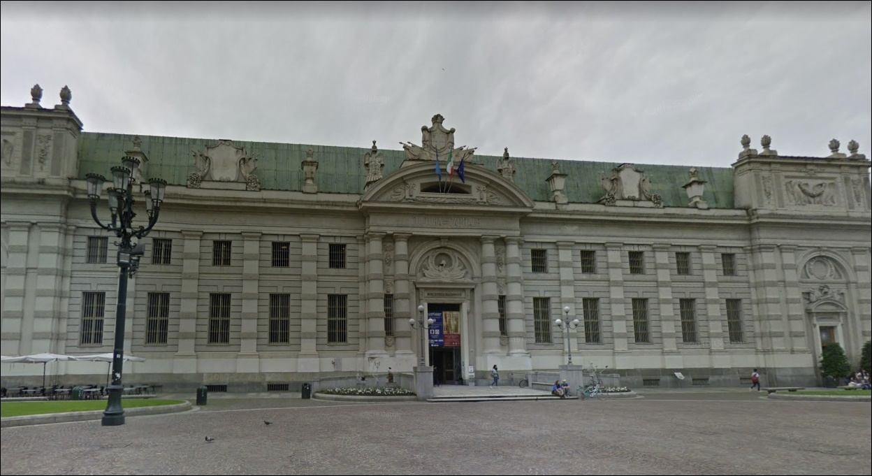 Facciata Biblioteca Nazionale Universitaria di Torino