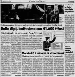 """31 maggio 1990: ecco il """"Delle Alpi"""""""