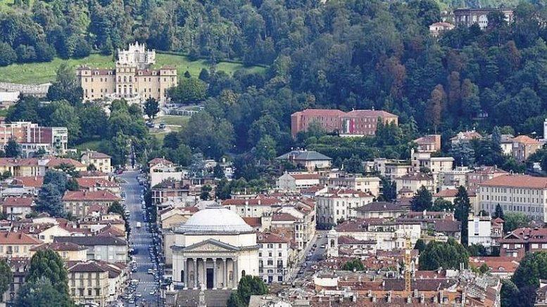Borgo Po visto dall'alto