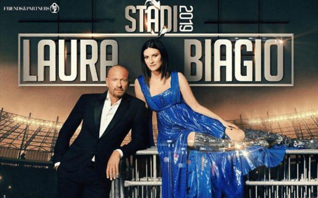 Laura Pausini e Biagio Antonacci a Torino: i due cantanti in concerto allo Stadio Olimpico