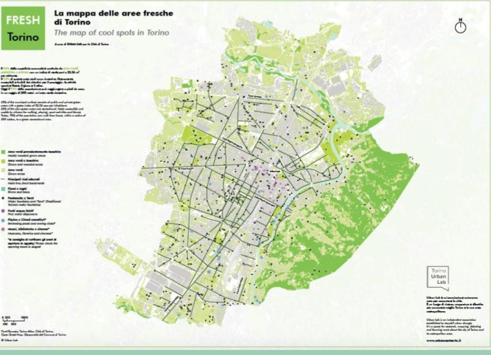 Arriva a Torino la mappa dell'ombra: pronta la piantina delle aree più fresche della città