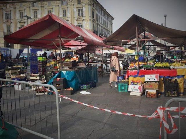 Mercato Porta Palazzo Torino Coronavirus