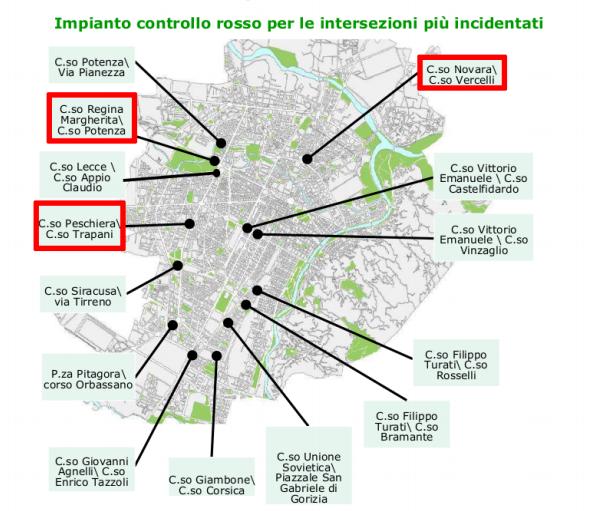 Mappa degli impianti Vista Red a Torino