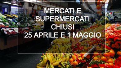 Photo of In Piemonte mercati e supermercati chiusi 25 aprile e 1 maggio, ecco chi resta aperto