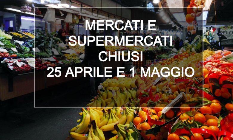 Piemonte Supermercati Chiusi 25 aprile