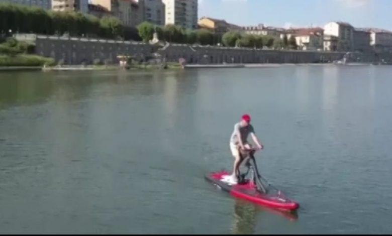 A spasso sul Po in bici: si può visitare il fiume con la bicicletta in acqua