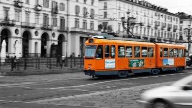 Photo of Torino tram arancioni verso l'ultima fermata
