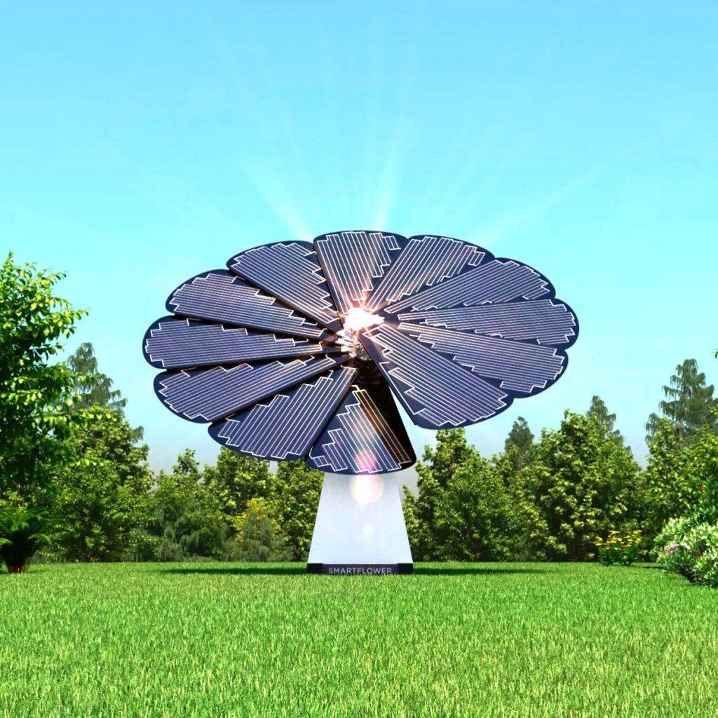 impianto fotovoltaico come un girasole