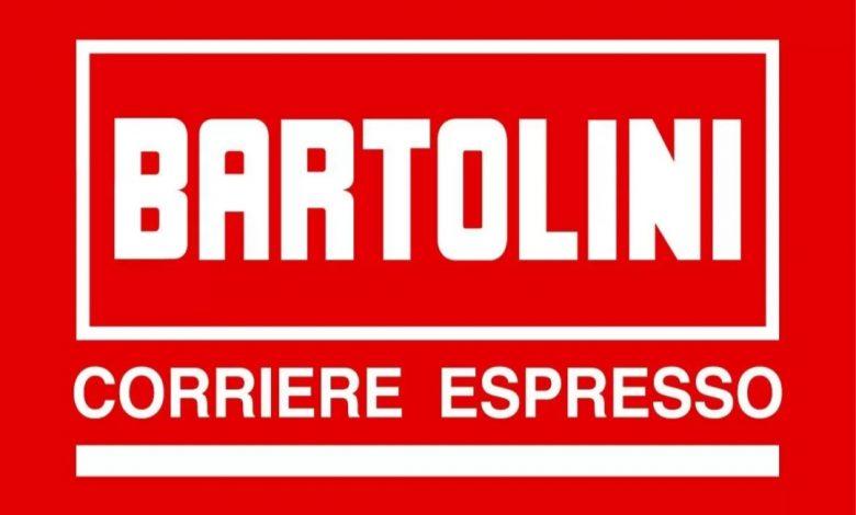logo Bartolini, scritta bianca su sfondo rosso