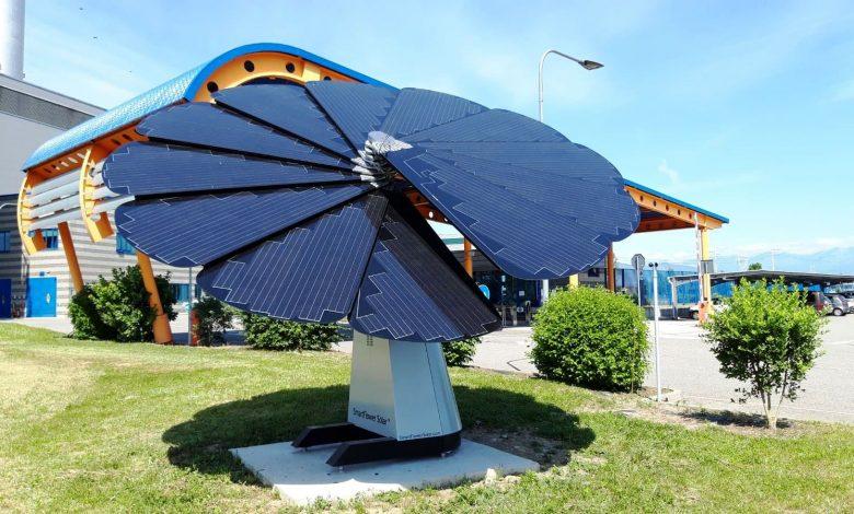 nuovo impianto fotovoltaico a petali