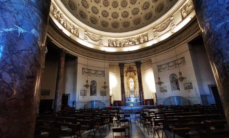 Interno della chiesa della Gran Madre di Torino