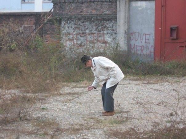 Sauro Tomaà giocatore del Grande Torino sopravvissuto sulle rovine dello stadio Filadelfia nel 2007