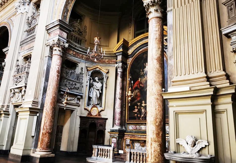 Dipinto Storie della Vergine) di Caravoglia (all'interno della chiesa di San Filippo Neri a Torino