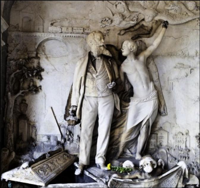 Tomba cimitero Monumentale Giuseppe Pongiglione