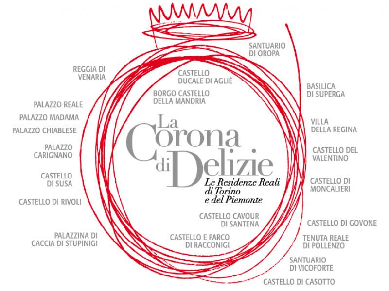 Logo la Corona delle delizie delle Residenze Reali