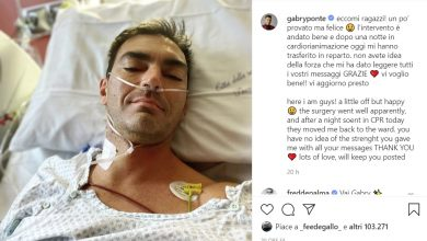 Photo of Gabry Ponte operato al cuore: l'intervento è andato bene