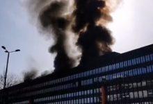 Photo of Incendio nel palazzo dell'Ex Fiat Engeneering di corso Ferrucci